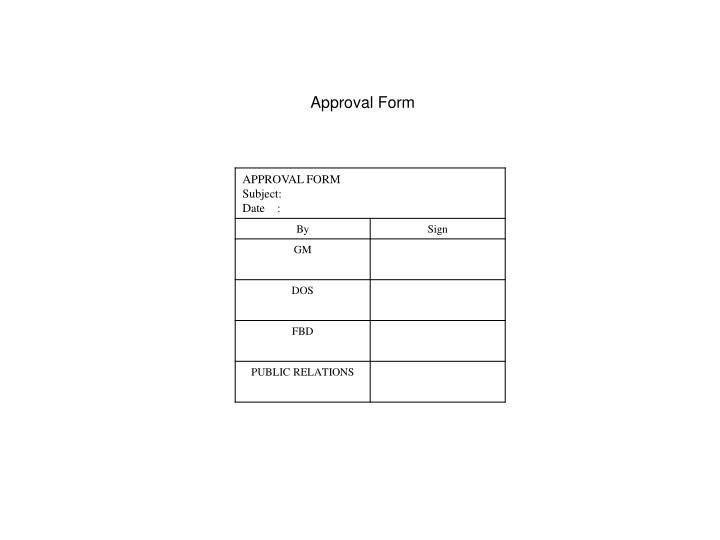 Approval Form