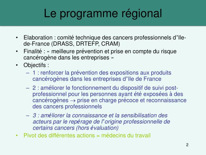 Le programme r gional