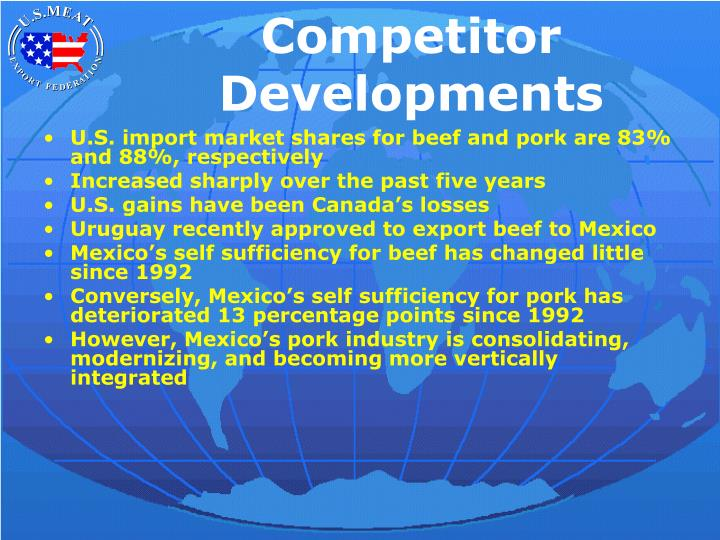 Competitor Developments