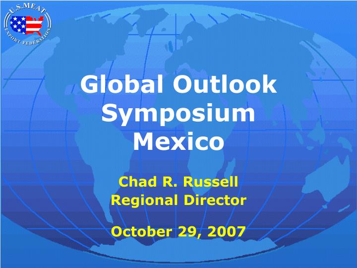 Global outlook symposium mexico