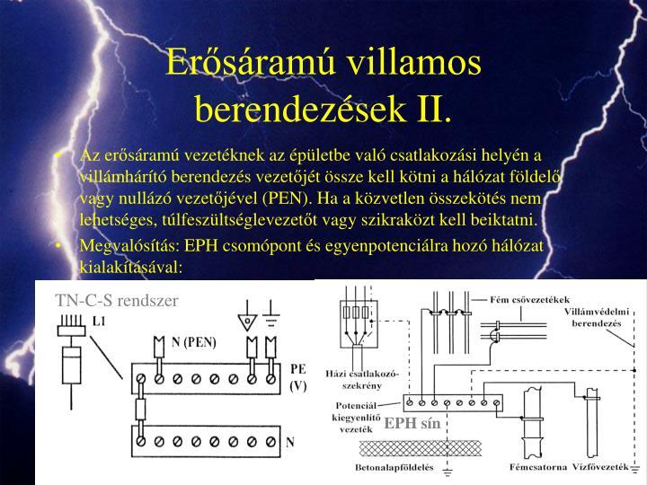 Erősáramú villamos berendezések II.