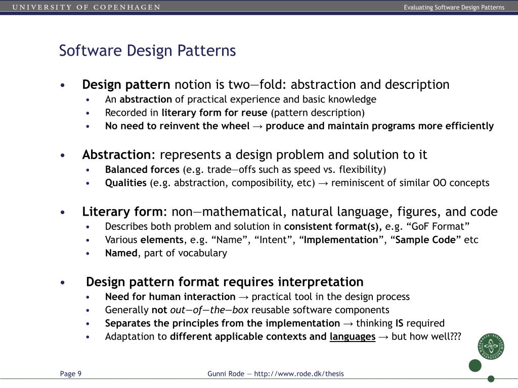 Ppt Evaluating Software Design Patterns The Gang Of Four Patterns Implemented In Java 6 Powerpoint Presentation Id 4954007