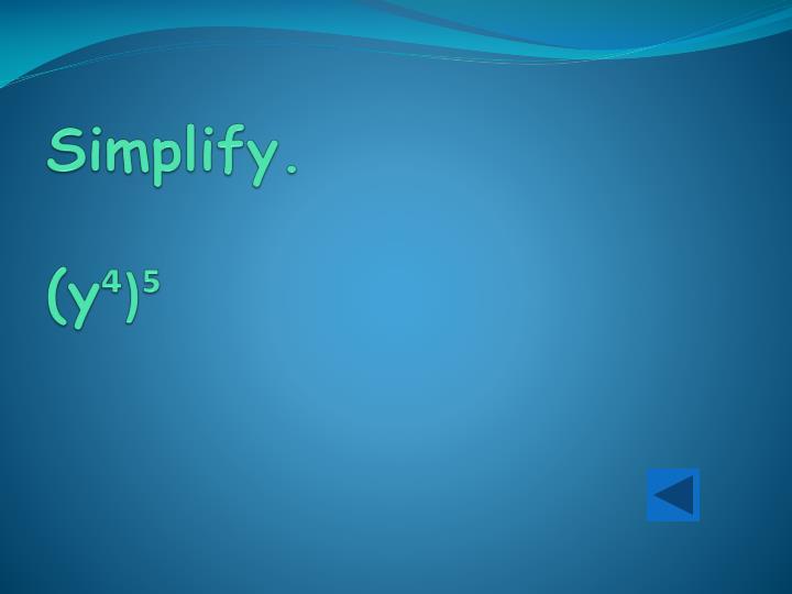 Simplify y