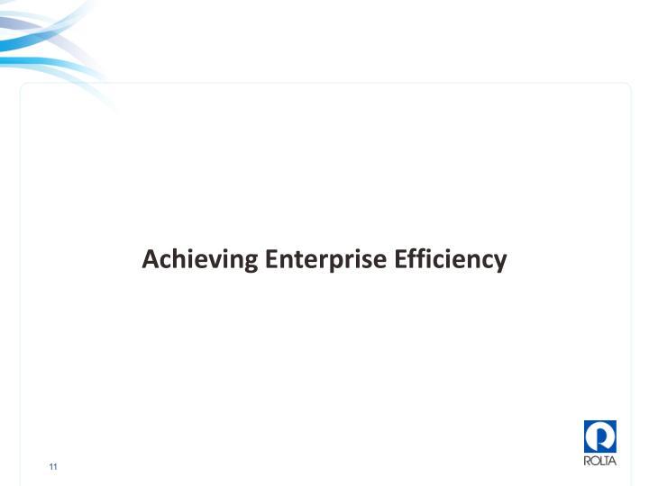 Achieving Enterprise Efficiency