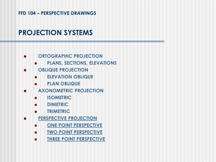 projection systems n.