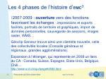les 4 phases de l histoire d e m c 34