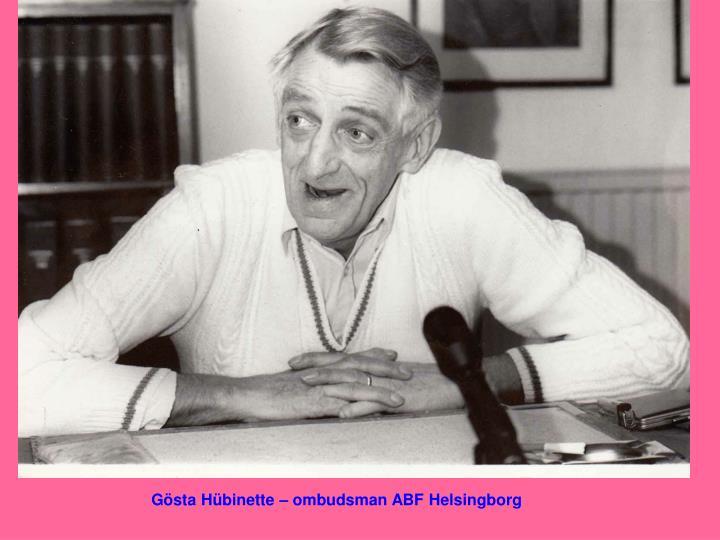 Gösta Hübinette – ombudsman ABF Helsingborg