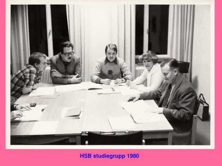 HSB studiegrupp 1980