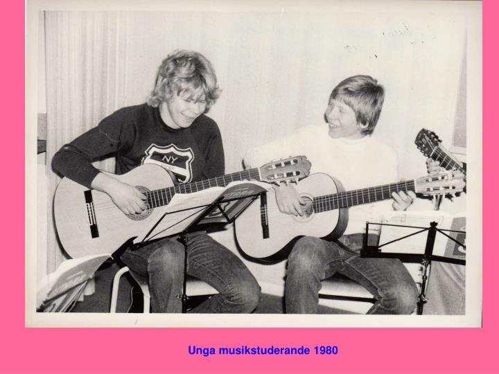 Unga musikstuderande 1980