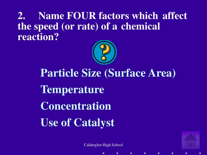 the speed of reaction essay 1to study the methods for investigating the effect of particle size on rate of reaction 2interpret data obtained from experiments on speed of reaction paper.