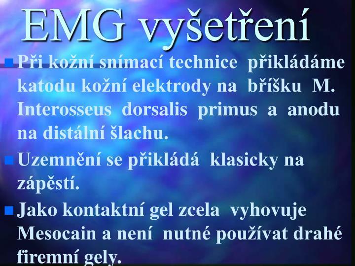 EMG vyšetření