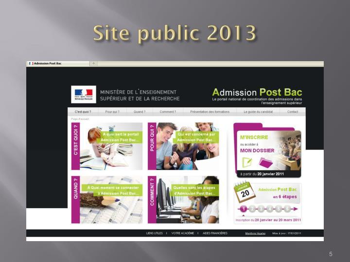 Site public 2013