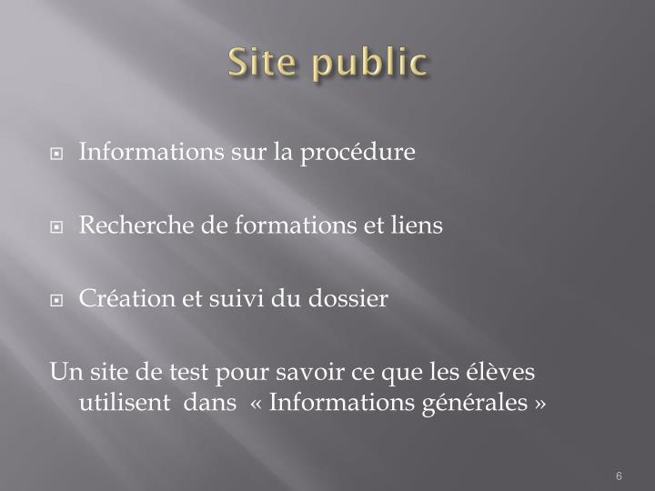 Site public