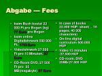 abgabe fees