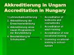 akkreditierung in ungarn accreditation in hungary