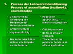 prozess der lehrwerkakkreditierung process of accreditation textbooks coursebooks