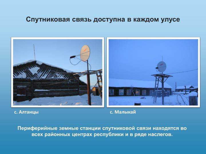 Спутниковая связь доступна в каждом улусе