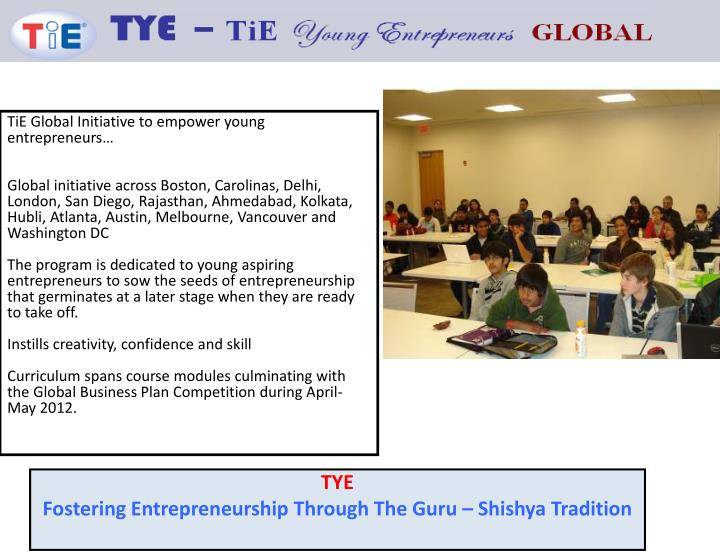 TiE Global Initiative to empower young entrepreneurs…