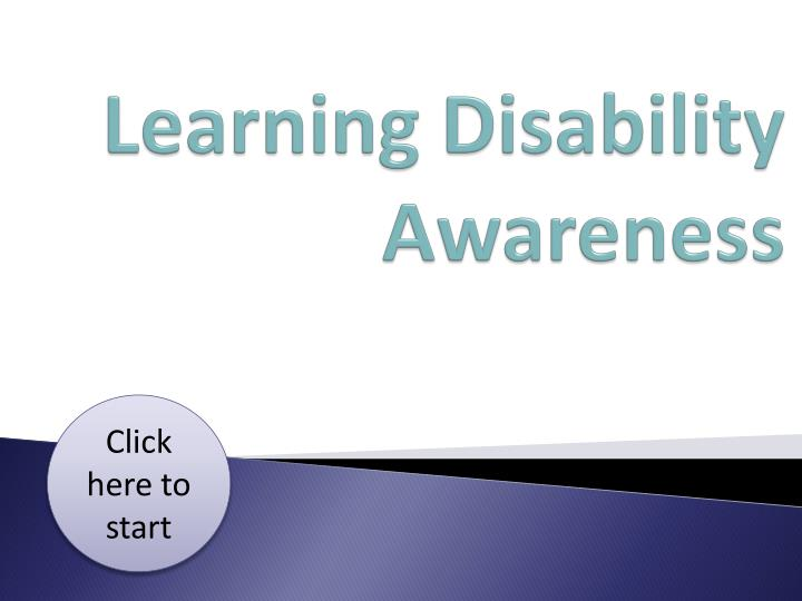 learning disability awareness n.