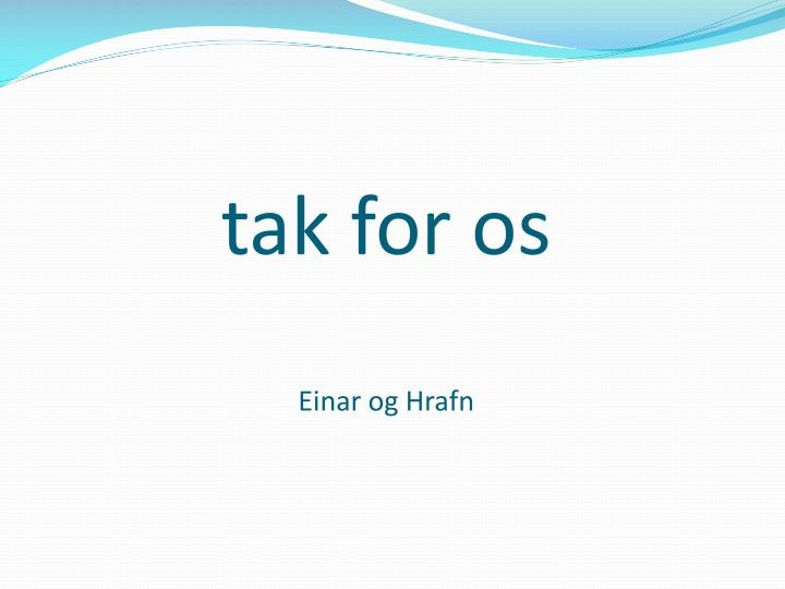 tak for