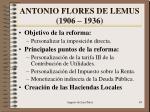 antonio flores de lemus 1906 19361