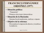 francisco fern ndez ord ez 1977