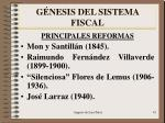 g nesis del sistema fiscal