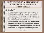 identificaci n y derogaci n expresa de las normas tributarias