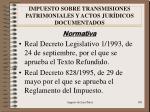 impuesto sobre transmisiones patrimoniales y actos jur dicos documentados