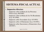 sistema fiscal actual