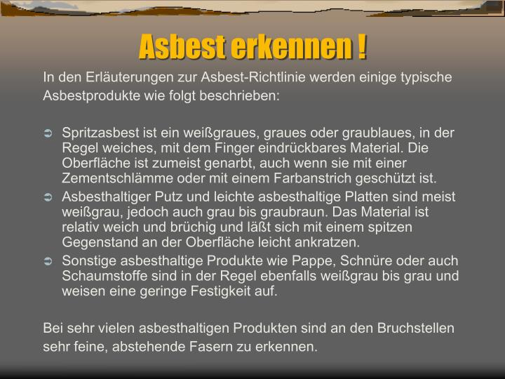 Ppt Asbest Was Ist Asbest Powerpoint Presentation Id 4956581