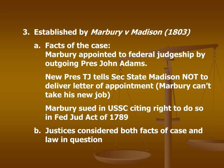 marbury v madison case brief summary