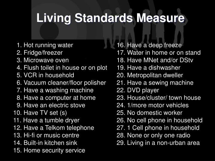 Living Standards Measure