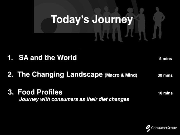 Today s journey