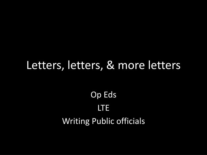 letters letters more letters n.