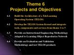 theme 6 projects and objectives