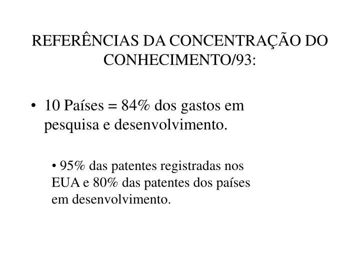 REFERÊNCIAS DA CONCENTRAÇÃO DO CONHECIMENTO/93: