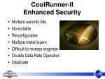 coolrunner ii enhanced security