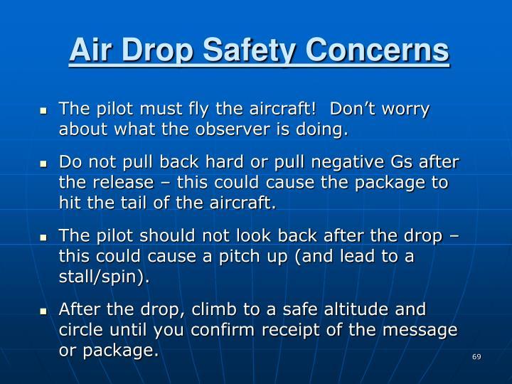 Air Drop Safety Concerns