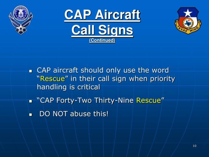 CAP Aircraft