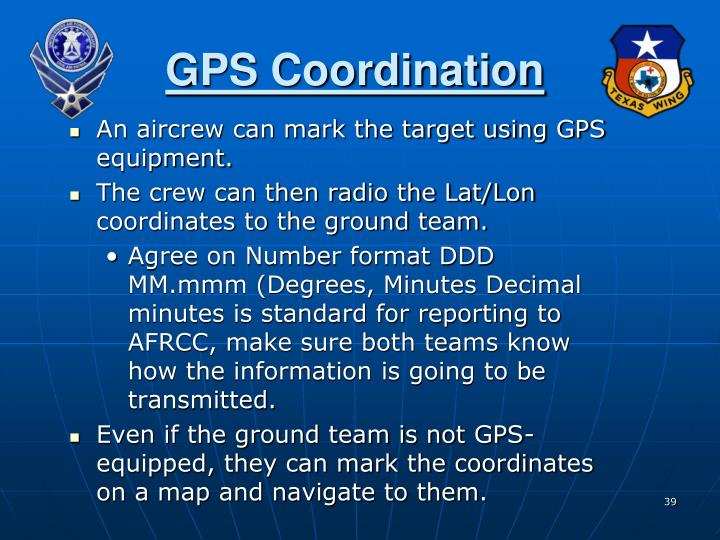 GPS Coordination