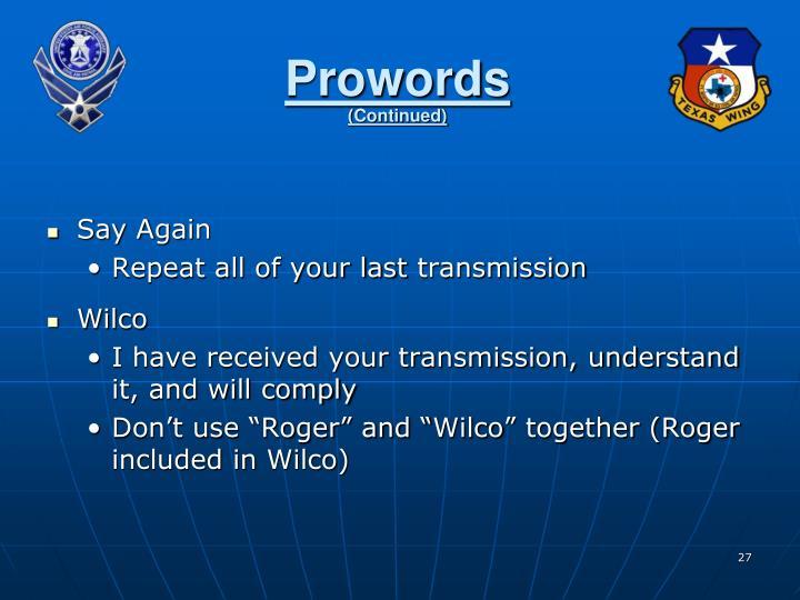 Prowords