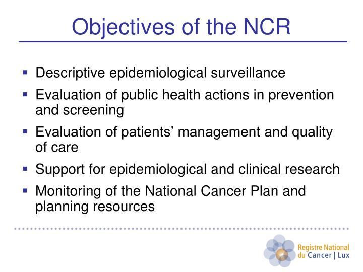 Descriptive epidemiological surveillance