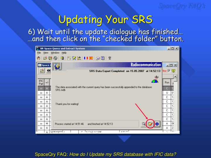Updating Your SRS