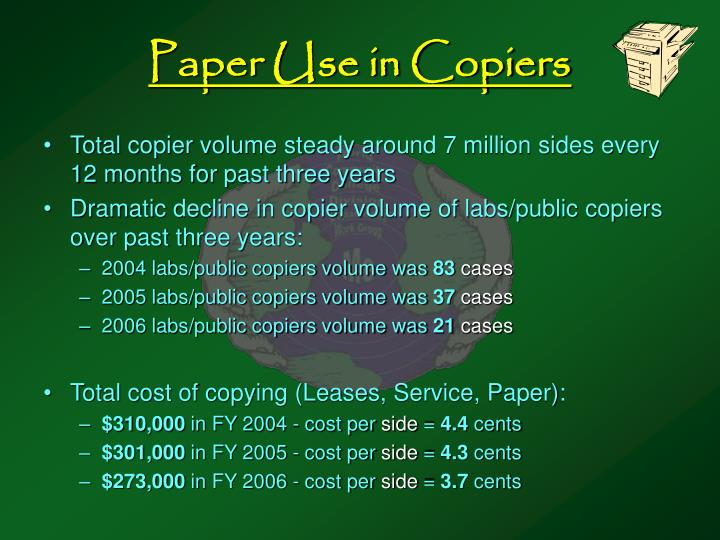 Paper Use in Copiers