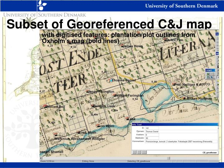 Subset of Georeferenced C&J map