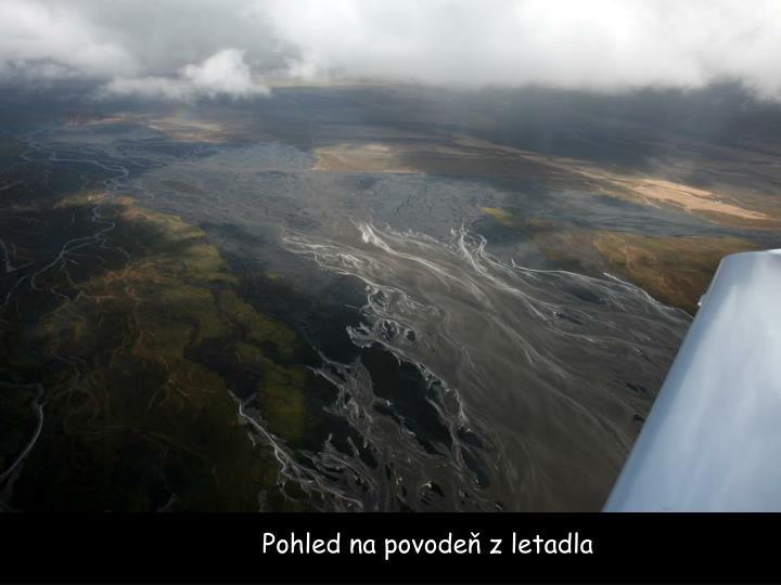 Pohled na povodeň z letadla