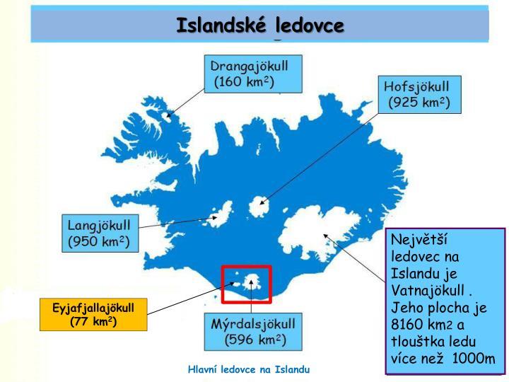 Islandské ledovce