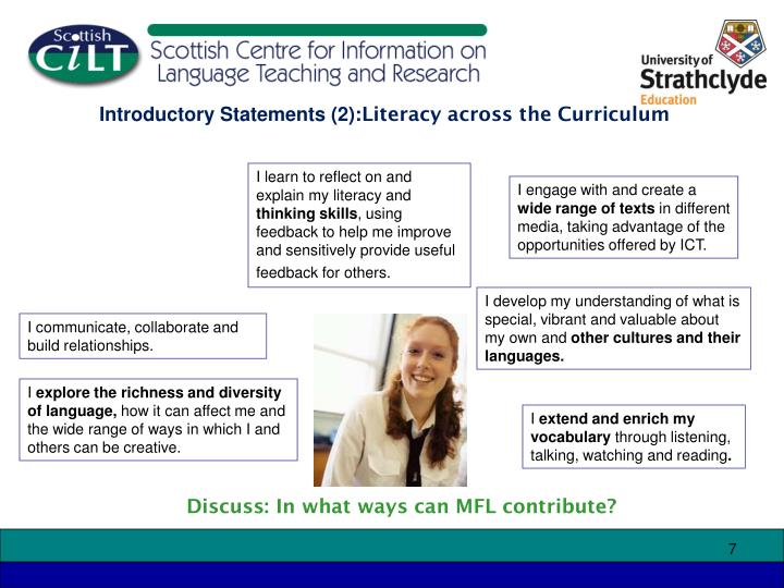 Introductory Statements (2):