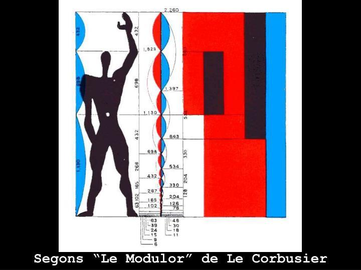 "Segons ""Le Modulor"" de Le Corbusier"